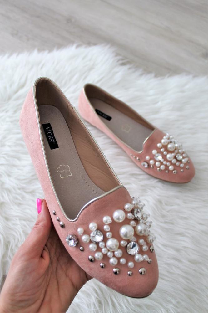 00f76e7cdaf4 Ružové balerínky Perla