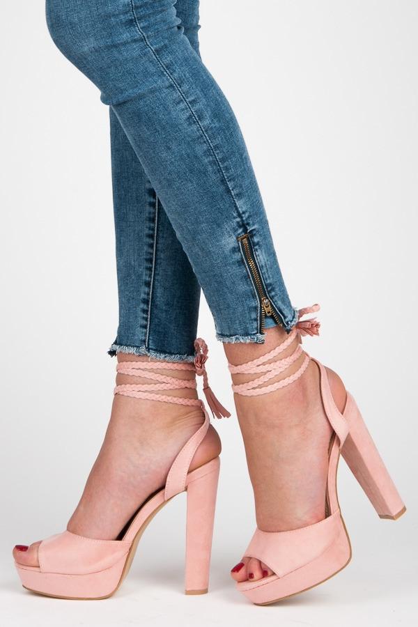 da80fe3f7486 Ružové sandále Melany ...
