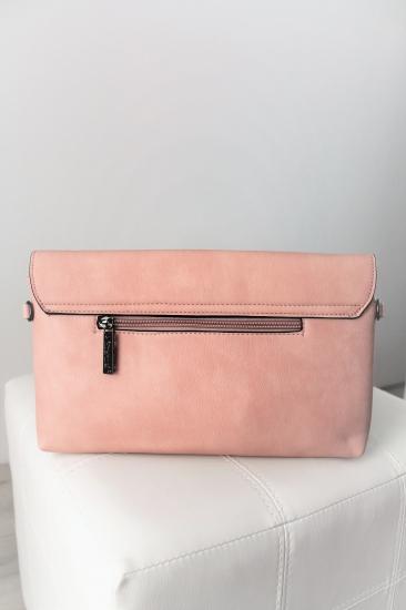f065dff580 Ružová listová kabelka Bela
