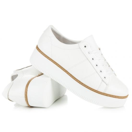 ... Biele tenisky na platforme Lu ... c480d8fb60e