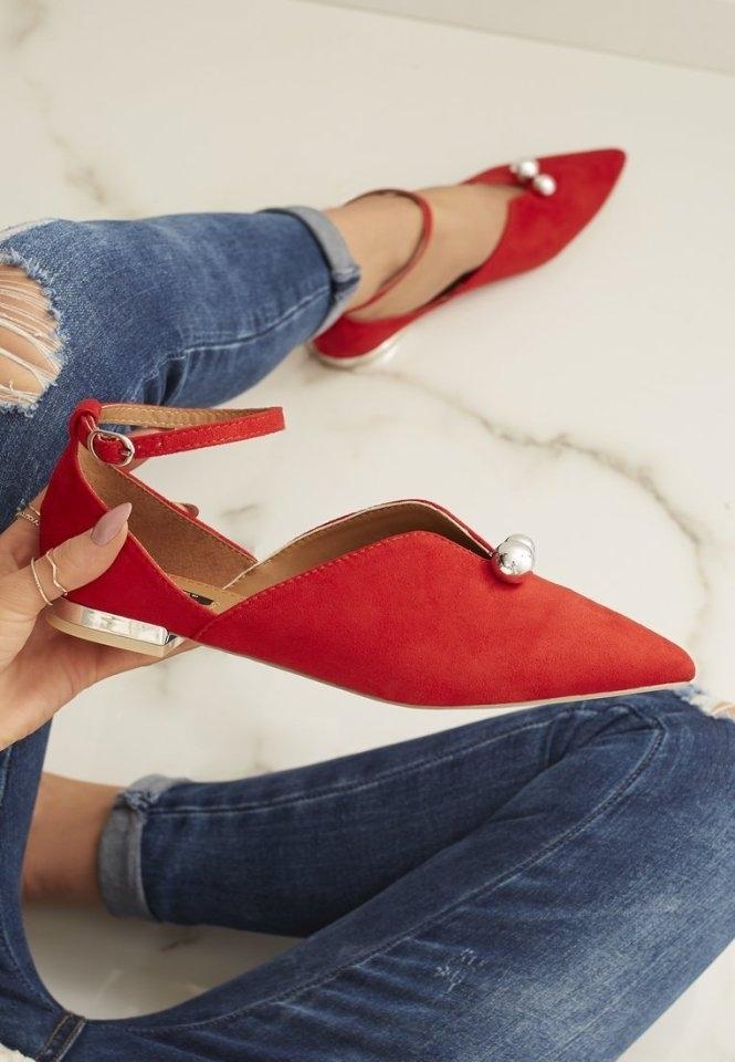 4e624b1895 ... Červené sandále Fancy