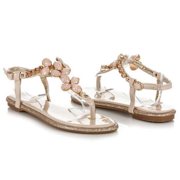 ae56f2f4145e Béžové sandále Rosa