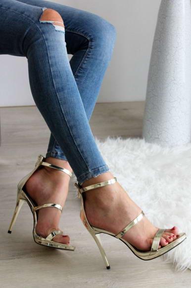 4a901dcb8daa Zlaté sandále Gold