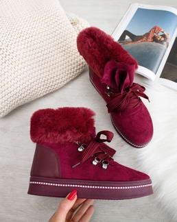 35bf20ebf9 Bordové topánky Nadine
