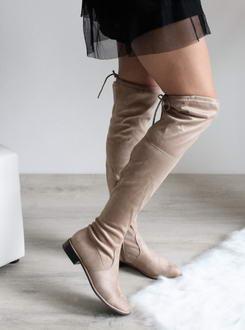 c5370a9c7d Béžové čižmy nad kolená Penny