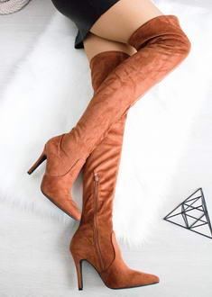 f6d0af5fd8 Camel čižmy nad kolená Cayla