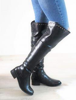 87c9a9462e Čierne čižmy nad kolená Rosie