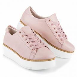 Ružové tenisky na platforme Lu b756780b362