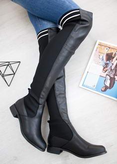 e7a81fcede Čierne čižmy nad kolená Marlena