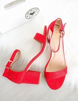 3bacf9a15e Červené sandále Luciana