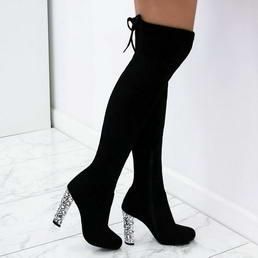 ba4c6da179 Čierne čižmy nad kolená Tiara